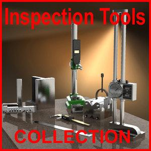 inspection measuring tools 3d model