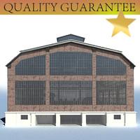 industrial building 3d max