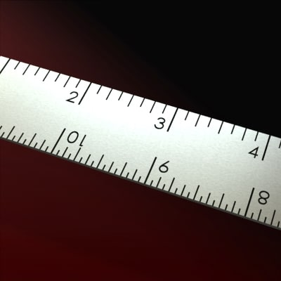 free 12 scale ruler 3d model