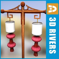 Chinese street lamp 02