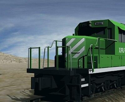 atlas train engine 3d model