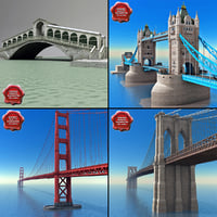 3d bridges set london model