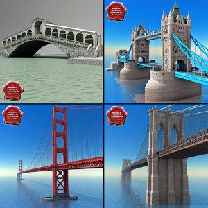 3d bridges set london model