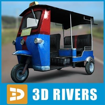 chinese taxi vehicle car 3d model