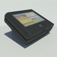 sps-2000 cash register 3d model