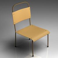 3d model schools chair