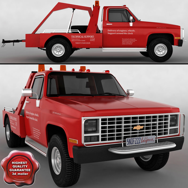 chevrolet wrecker truck 3d model
