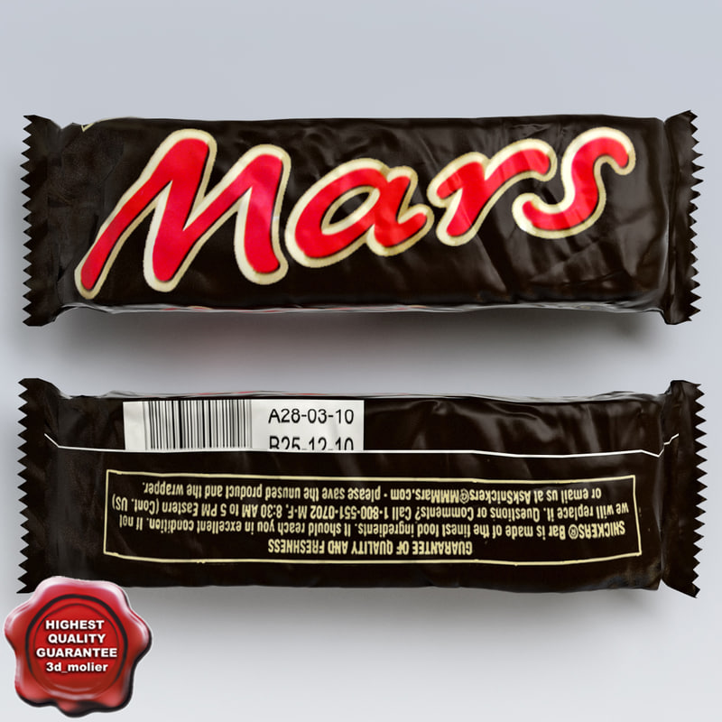 3d model of chocolate mars