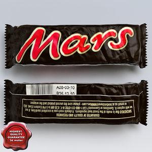 3d model of chocolate mars