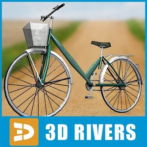 chinese bicycle cycle 3d model