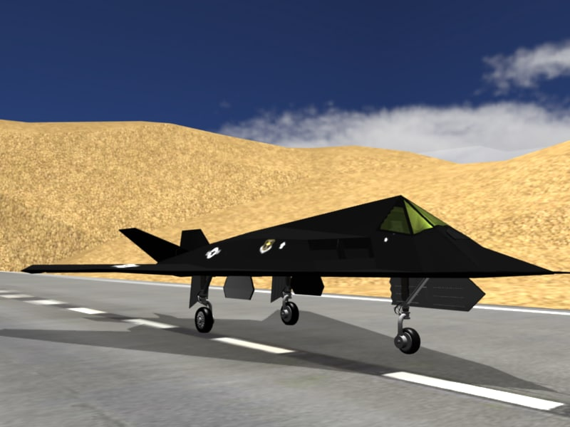 3d model f-117 nighthawk stealth fighter