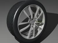 3d wheel tires model