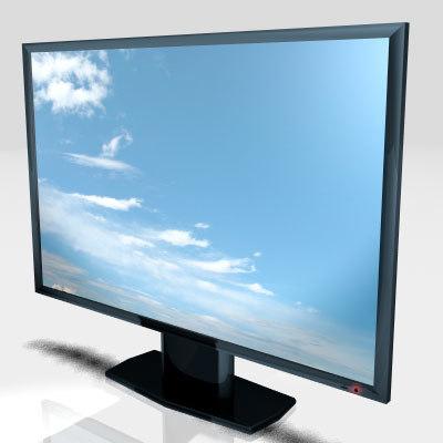 3d model lcd tv