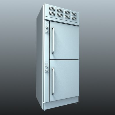 refrigerator commercial fridge kitchen 3d model