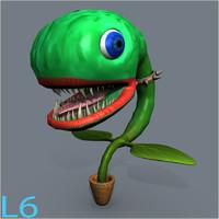 plant monster 3d blend