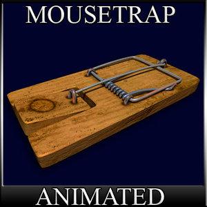 gameready mousetrap 3d model
