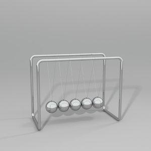 newton cradle 3d model