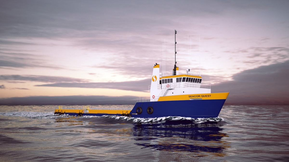 seacor support vessel 3d model