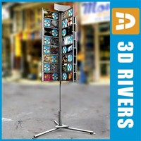 display rack cds stores 3d model