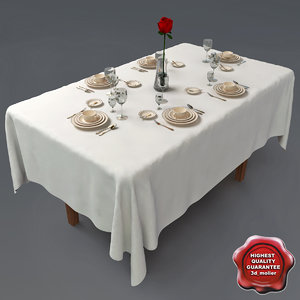 3d model restaurant table v1