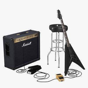 maya heavy metal guitar