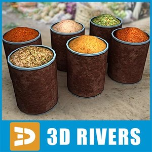 3ds max jars spices