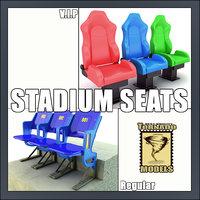 stadium seats 3d max