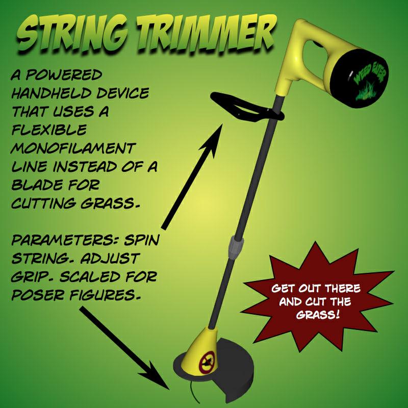 pz3 string trimmer poser prop