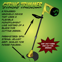 pz3 string trimmer poser prop