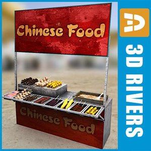 3d model chinese fast food buffet