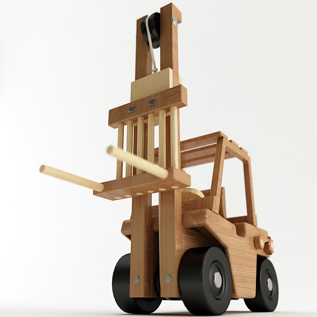 toy forklift 3d model