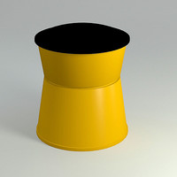 traffic crash cushion 3d model