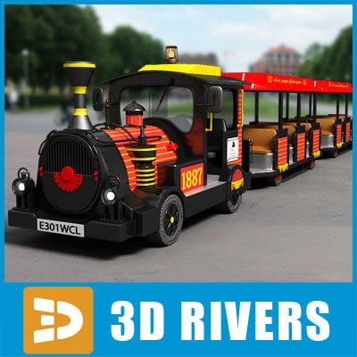 3d model kids train ride