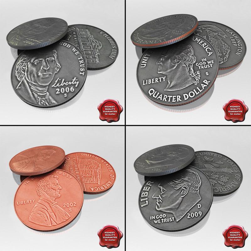 3d usa coins