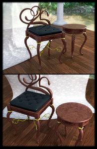 maya classic coffee table chair
