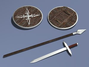 lwo sword spear shield