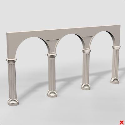 architecture element entrance 3d model