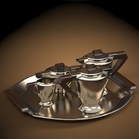 3d model art deco coffee