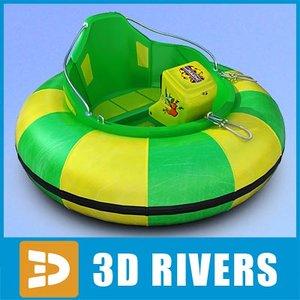 obj amusement park one-seat bumper