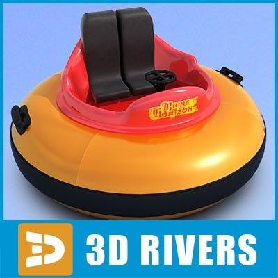 3ds amusement park two-seat bumper