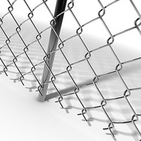 modular chainlink fence modules 3d c4d