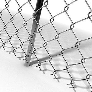 modular chainlink fence modules 3d c4d
