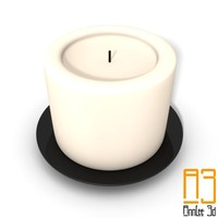 candlestick candle obj free