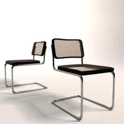 marcel breuer cesca chair 3d model