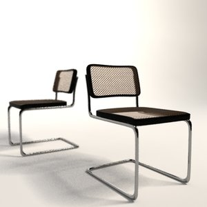 marcel breuer cesca chair 3d model