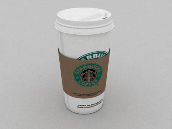 3dsmax starbucks cup