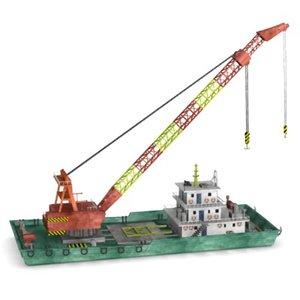 3ds floating crane