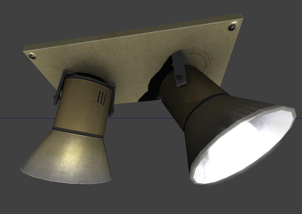 3ds ceiling lamp