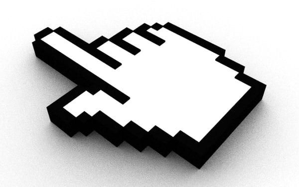 cursor hand 3d model
