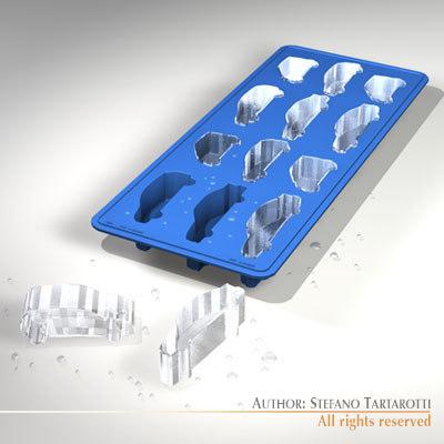 ice tray cars 3d model